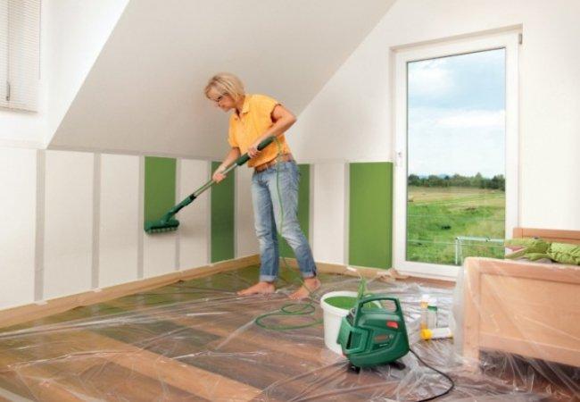 Краски для стен — выбор и применение