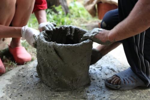Как сделать вазон из цемента своими руками