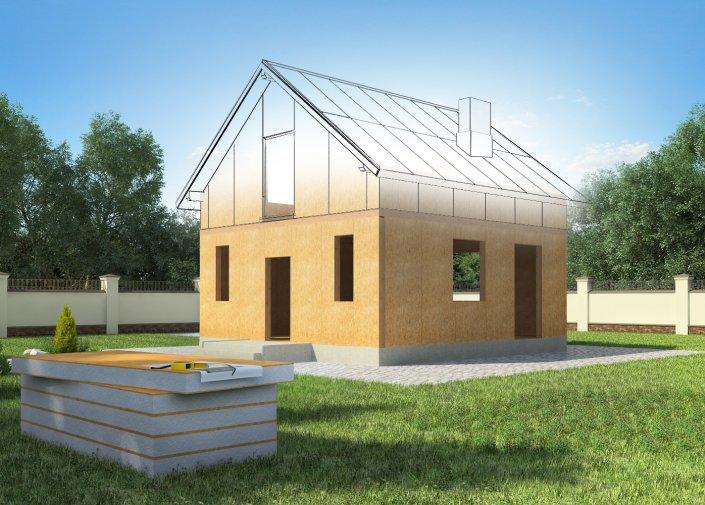 Строительство домов из СИП-панелей — преимущества